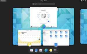 GNOME Shell 3.16 in overview mode