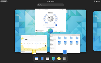 X Window System - GNOME graphical user interface