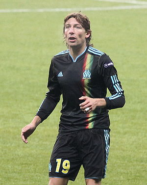 Gabriel Heinze - Heinze in action for Marseille