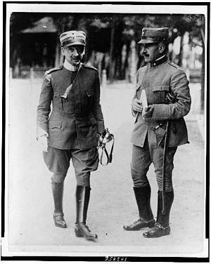 Gabriele D'Annunzio - Gabriele D'Annunzio (left) with a fellow officer