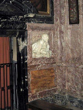 San Lorenzo in Lucina - Bust of Gabriel Fonseca by Gian Lorenzo Bernini