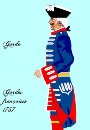 Maison militaire du roi de France - Image: Gardes françaises 1757