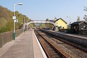 Garve railway station - Image: Garve Railway Station geograph.org.uk 167084