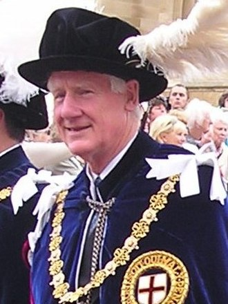 Robin Butler, Baron Butler of Brockwell - Lord Butler in the robes of a Knight Companion of the Order of the Garter.