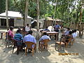Gathering in a meeting of villagers in an Bangladeshi village 2015 03.jpg