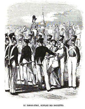 Running the gauntlet - Gauntlet in Russia, 1845
