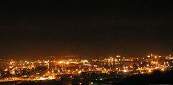 Gdy�ski port noc�.