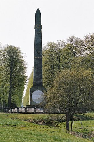 Battle of Quatre Bras - Monument erected in remembrance of the battle