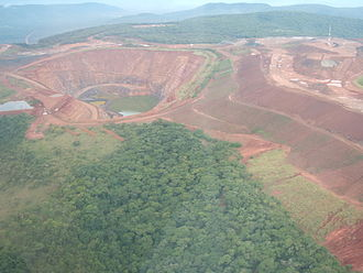 Geita Region - Geita open pit gold mine