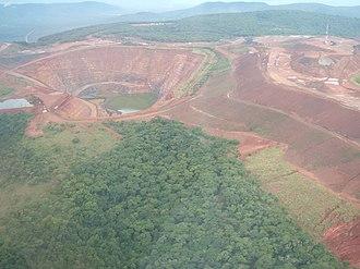 Geita Region - The Geita open pit gold mine.