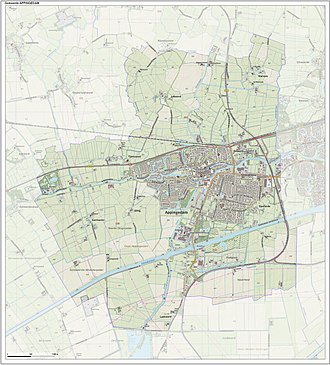 Appingedam - Topographic map of Appingedam, Sept. 2014