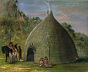 George Catlin - Wichita Lodge, Thatched with Prairie Grass - 1985.66.492 - Smithsonian American Art Museum.jpg