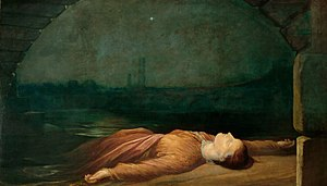 The Bridge of Sighs (poem) - One illustration based on the poem: Found Drowned, George Frederic Watts, c. 1850