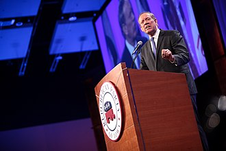 George Pataki - Pataki speaking before the Iowa Republican Party in Des Moines, Iowa in May 2015.