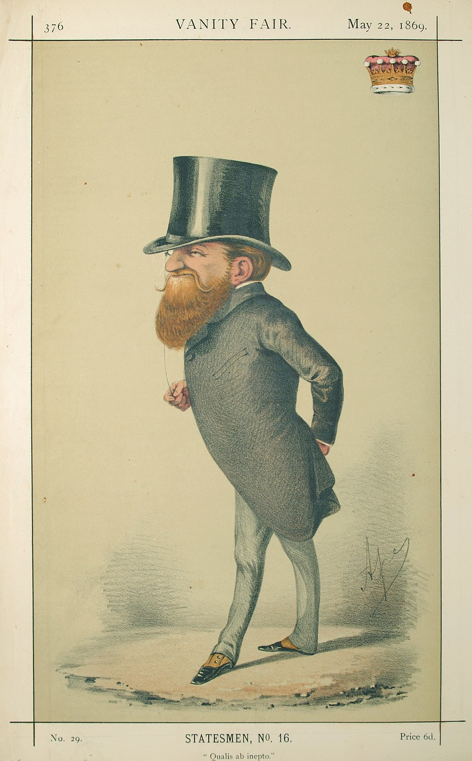 George Robinson, Vanity Fair, 1869-05-22