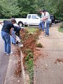 Georgia Native Plant Society planting butterfly garden in Heritage Park, Mableton, Cobb County, Sept 2015 04.jpg