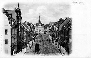 Gera - The Heinrichstraße in the 1900s