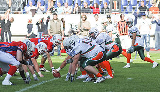 New Yorker Lions - German Bowl XXX in 2008, Braunschweig Lions vs Kiel Baltic Hurricanes.