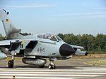 German Air Force Panavia Tornado on runway at Kleine Brogel.jpg