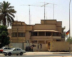 Germany–Iraq relations - German embassy in Baghdad, Iraq.