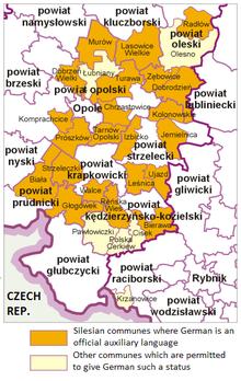 Comuni in cui il tedesco è stato introdotto come seconda lingua