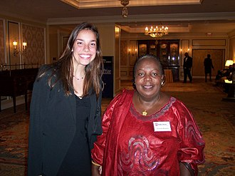 Bureau of the Pan-African Parliament - Image: Gertrude Mongella with Corinne Novell