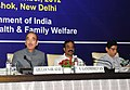 Ghulam Nabi Azad addressing at the Conference of the State Health and Medical Education MinistersSecretaries, in New Delhi. The Minister of State of Health and Family Welfare, Shri S. Gandhiselvan is also seen.jpg