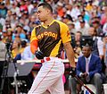 Giancarlo Stanton competes in semis of '16 T-Mobile -HRDerby. (28496641821).jpg