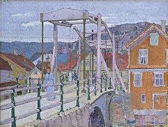 Harold Gilman - Canal Bridge, Flekkefjord, c. 1913