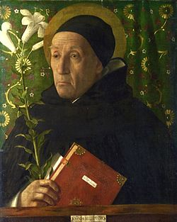 Giovanni Bellini - Fra Teodoro of Urbino as Saint Dominic 2.jpg