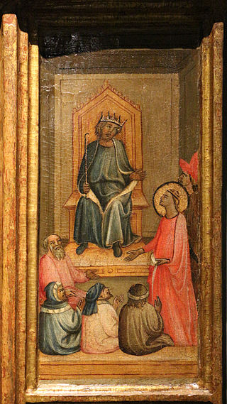 Giovanni del biondo, santa caterina d'alessandria coi donatori e scene della sua vita, 1390-1410 ca. 09.JPG