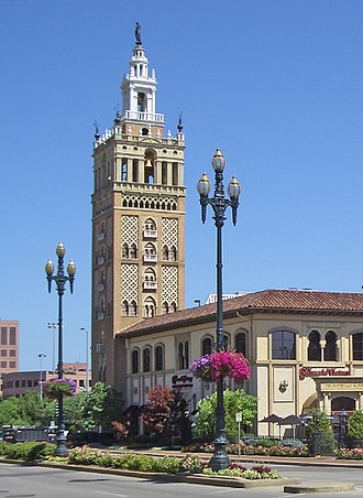 Country Club Plaza - The Giralda Tower, inspired by the original at the Cathedral of Seville.