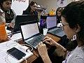 """Gjatë edit-a-thon """"Gratë Shqiptare në Wikipedia"""" në Shkodër.jpg"""