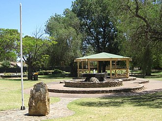 Glandore, South Australia - Fountain and rotunda located on the grounds of the Glandore Community Centre