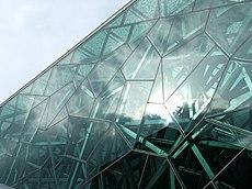 Glasfassade  Glasfassade – Wiktionary