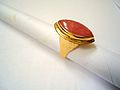 Gold and rhodochrosite ring..jpg