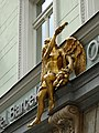 Golden angel. Prague. Czech Republic. Золотой ангел на здании. Прага. Чехия - panoramio (1).jpg