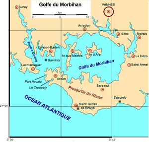 Gulf of Morbihan - Map