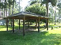 Grand Bay Wetlands Management Area picnic shelter, tables.JPG