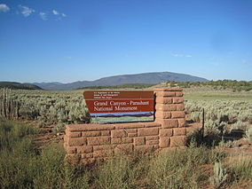 Grand Canyon Parashant sign, Arizona.JPG