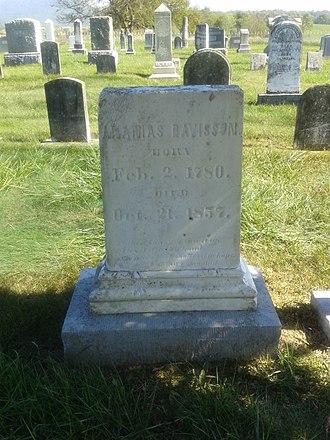 Ananias Davisson - Grave of Ananias Davisson