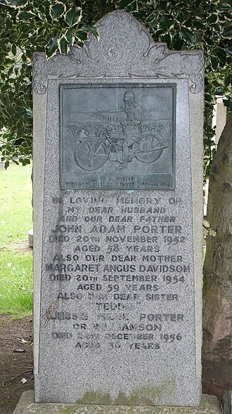 Jock Porter - Porter's grave at Comely Bank Cemetery, Edinburgh