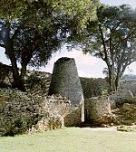 The ruins of Great Zimbabwe.
