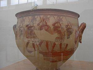 Warrior Vase - Detail