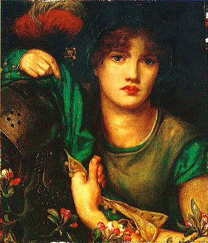 Greensleeves - My Lady Greensleeves, an 1864 painting by Dante Gabriel Rossetti.