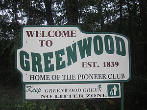 Greenwood, Louisiana - Image: Greenwood, LA, welcome sign IMG 2890