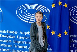 Greta Thunberg urges MEPs to show climate leadership (49618310631).jpg
