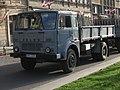 Grey Jelcz truck of the Polish Police on Matejki square in Kraków (2).jpg