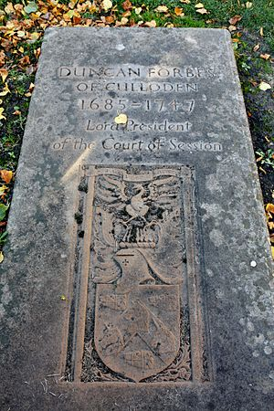 Duncan Forbes, Lord Culloden - The grave of Duncan Forbes of Culloden, Greyfriars Kirkyard