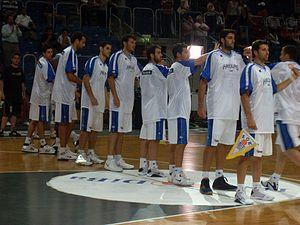 Griechische Basketballnationalmannschaft juli 08